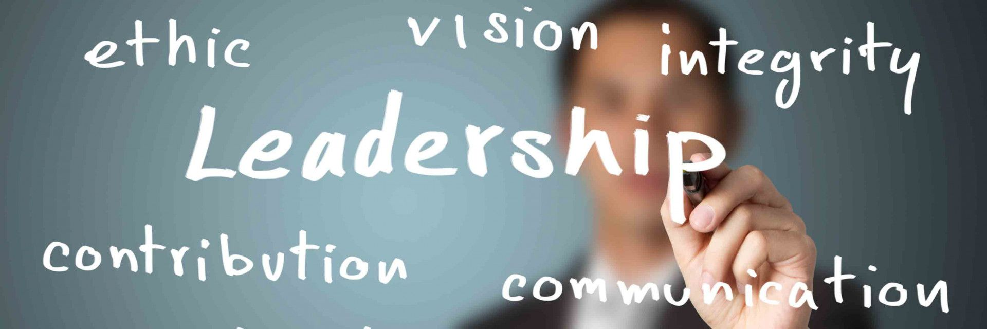 writing on board leadership in bold stock photo